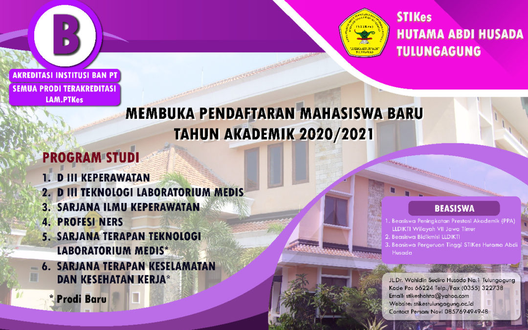 Penerimaan Mahasiswa Baru STIKes Hutama Abdi Husada Tulungagung 2020/2021